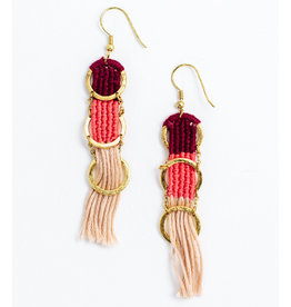 Mata Traders Santa Cruz Earrings, Mauve - Mata Traders