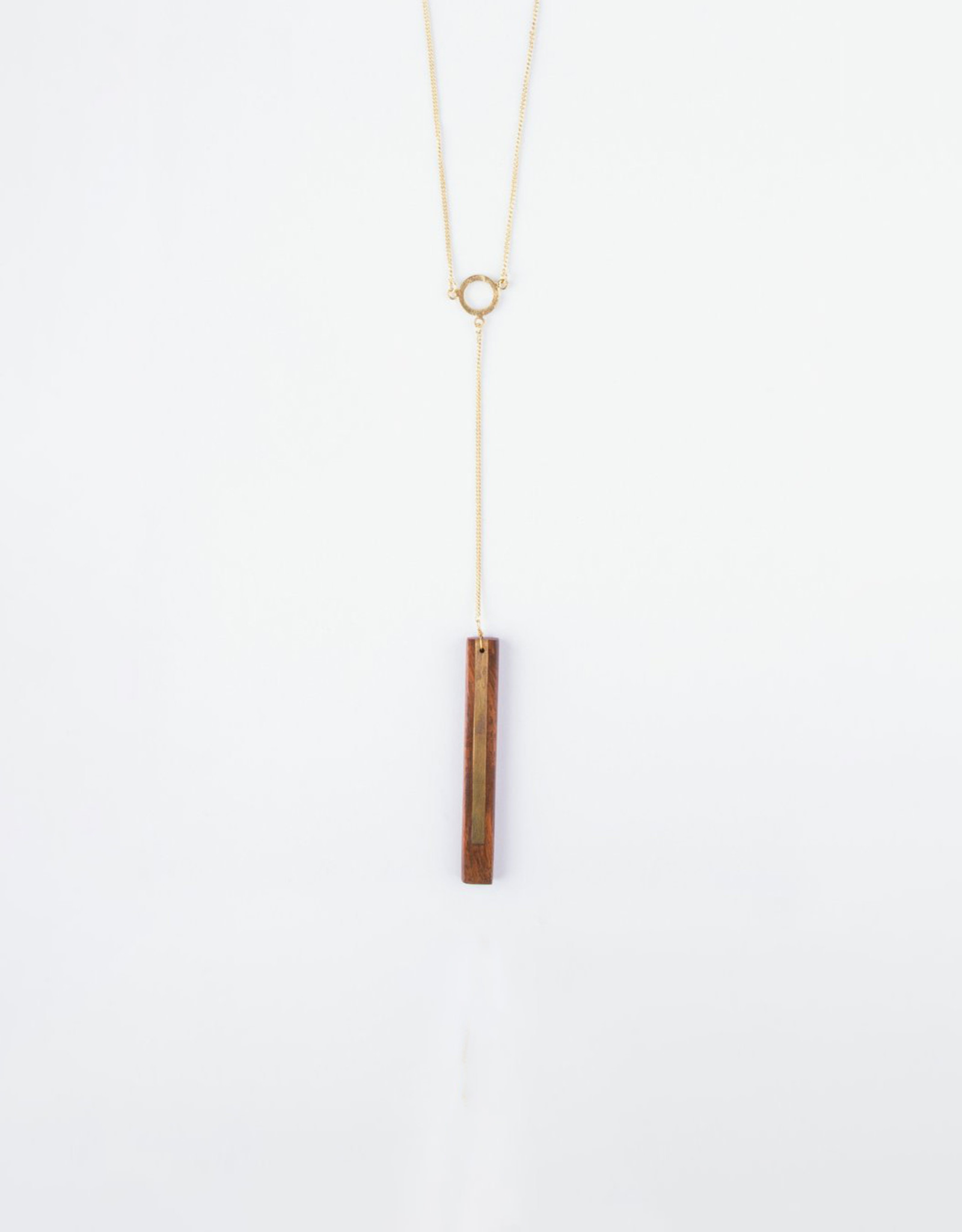 Mata Traders Winslow Necklace, Wood + Brass - Mata Traders