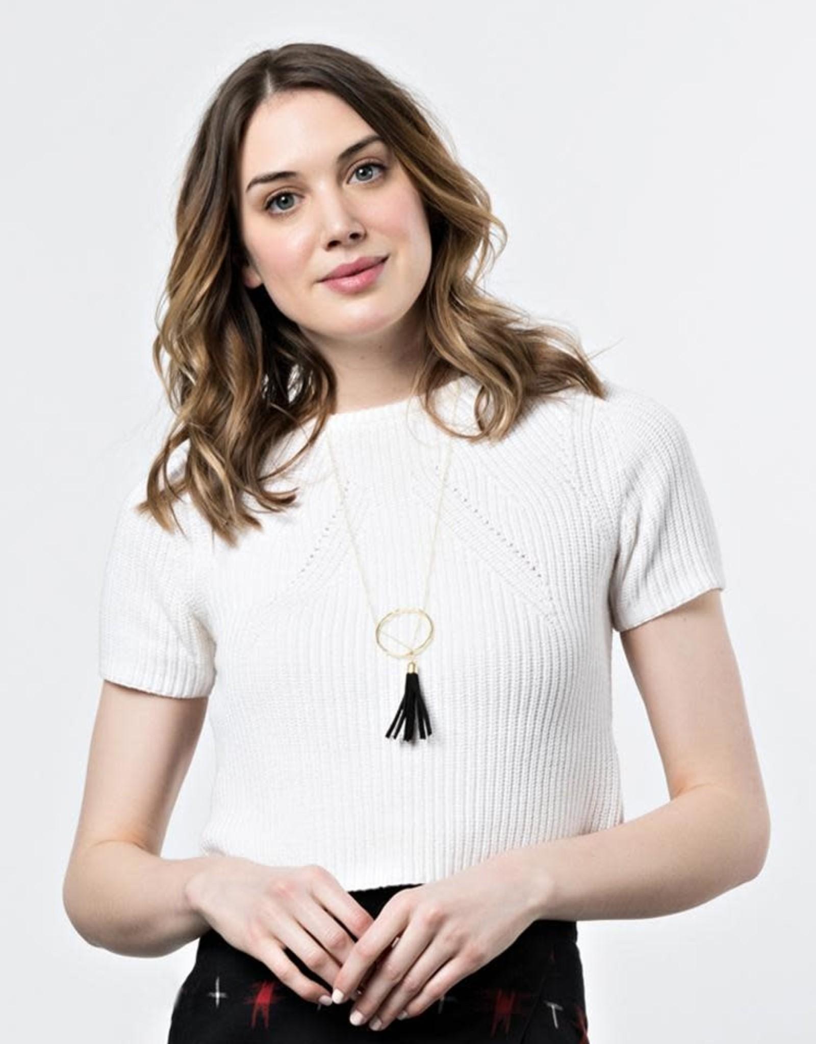 Mata Traders Ellaria Black Tassel Necklace - Mata Traders