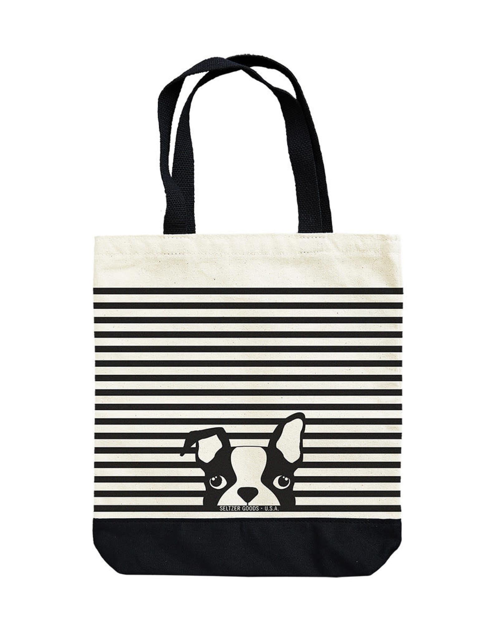 Seltzer Dog Stripes Tote Bag - Seltzer