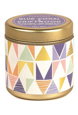 Paddywax Tin candle 3oz. - Blue Coral & Driftwood