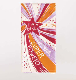 Blue Q Dish Towel: I'm a Girl, What's Your Superpower?