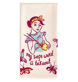 Blue Q Dish Towel: My Safe Word Is Take Out