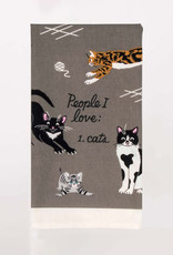Blue Q Dish Towel: People I Love: Cats