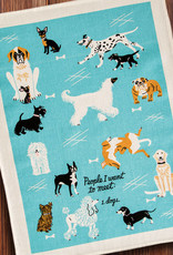 Blue Q Dish Towel: People to Meet: Dogs