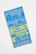 Blue Q Woven Dish Towel: Best Restaurant in Town
