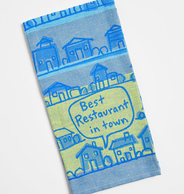 Blue Q Woven Dish Towel: Best Restaurant in Town
