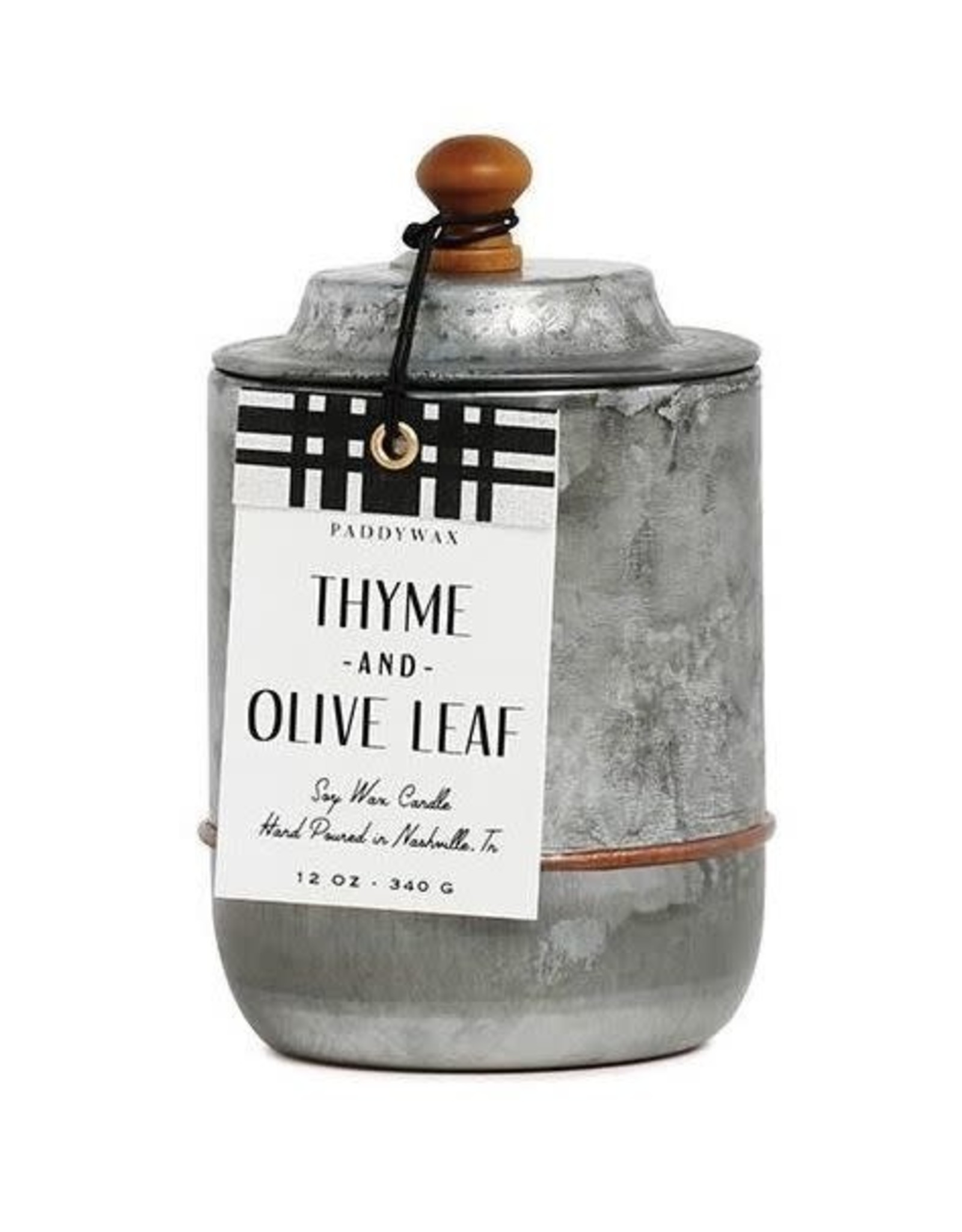 Paddywax Candle Homestead Thyme, Olive Leaf