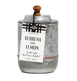 Paddywax Homestead Candle - Verbena, Lemon 12 oz.