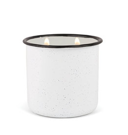 Paddywax Alpine Enamelware candle - White Woods & Mint 9.5 oz.