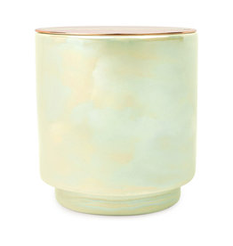 Paddywax Glow Candle -Irridescent ceramic candle - White Woods & Mint, 17oz
