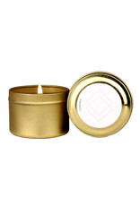 Paddywax Gold travel tin 2oz candle - AIR- Wisteria & willow