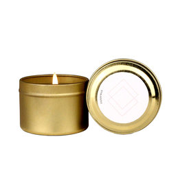 Paddywax Gold travel tin- AIR- Wisteria & willow, 2oz candle
