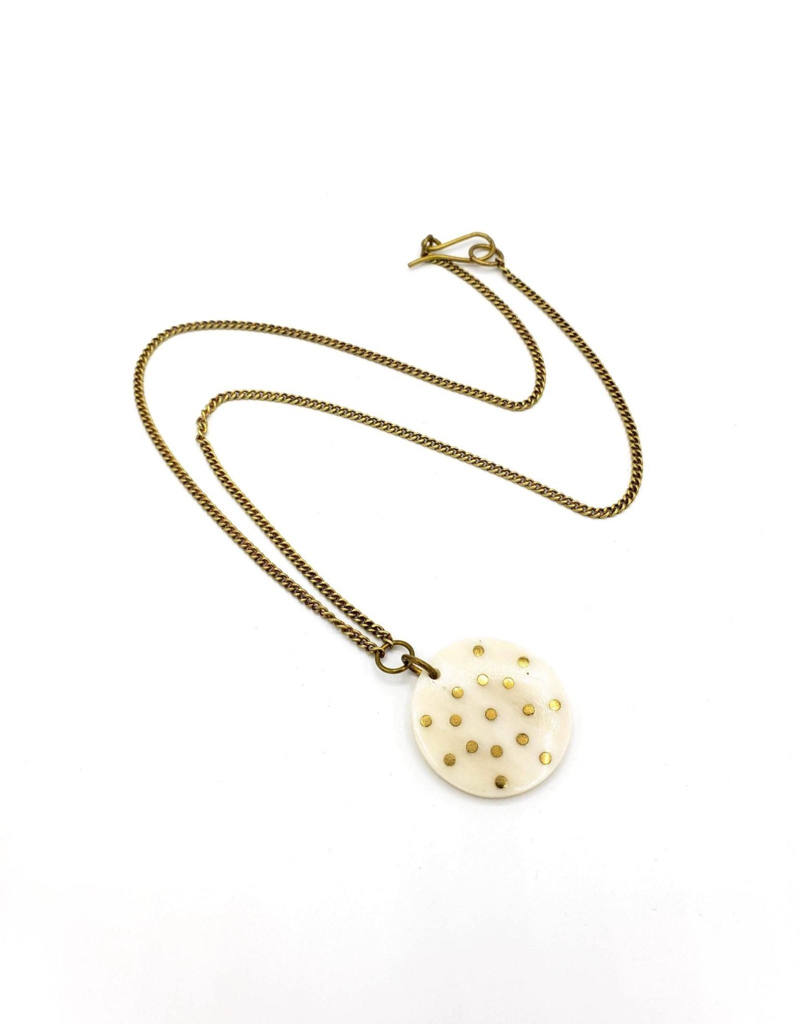 Amsha Bone Disc Constellation Necklace by Amsha