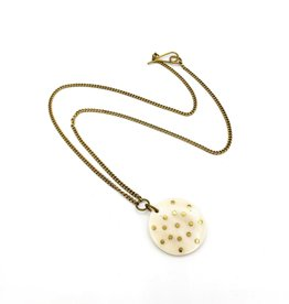 Amsha Bone Disc Constellation Necklace by Amsha