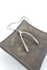 Redux Wishbone Necklace cast in Sterling Silver, high polish finish