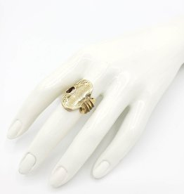 Vintage Key Ring, Sz. 6 - ''Independent'' in Brass, High Polished