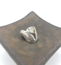 Maple Seedling Ring, High Polish Sterling Silver - Adjustable