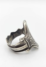 Redux Vintage Key Ring, Sz. 6 - ''Numerical'' in Sterling Silver, Antiqued