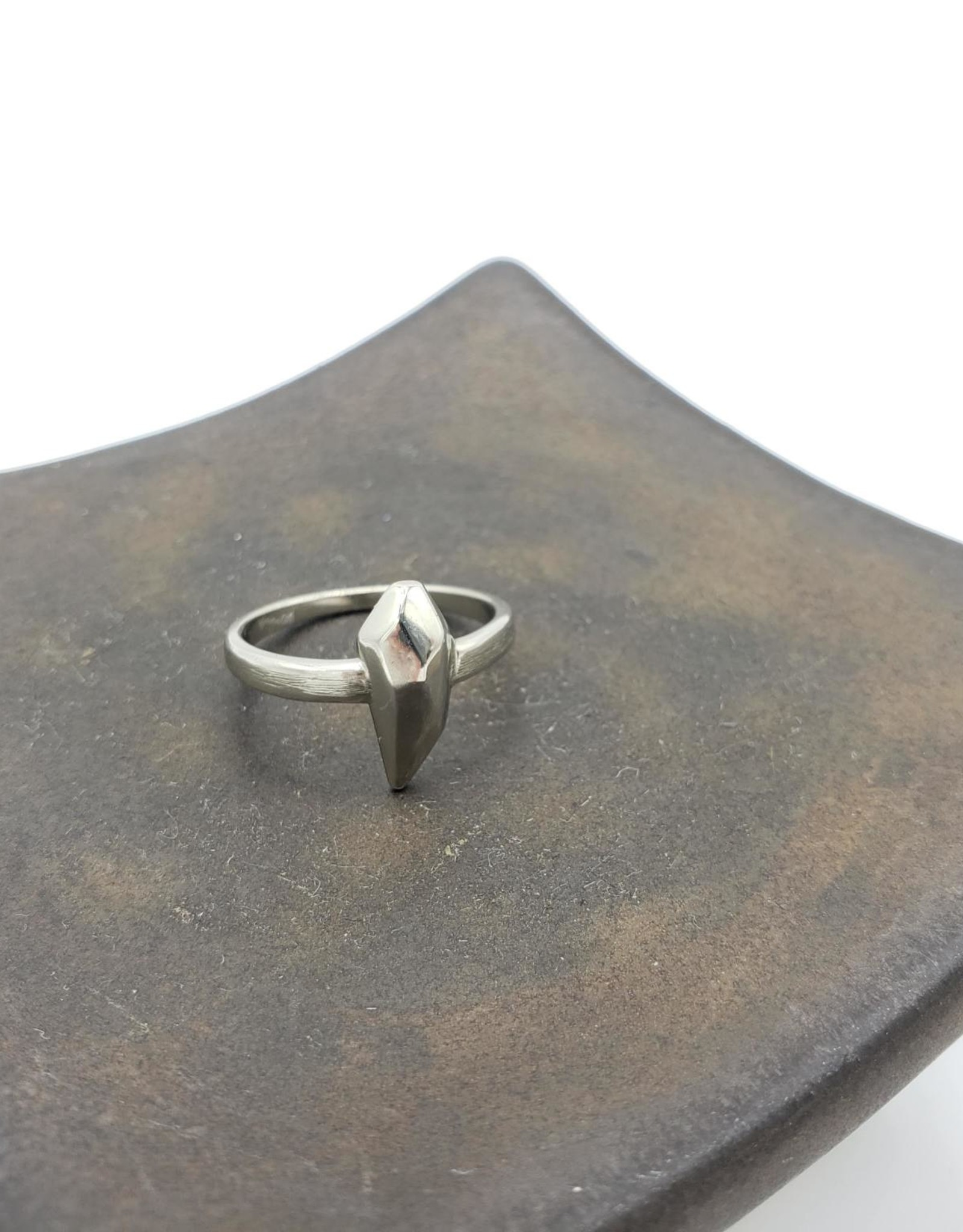 Faceted Ring in White Bronze by Paradigm Shift