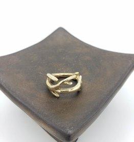Antler brass Ring in high polish