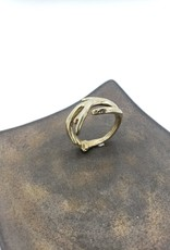 Antler Ring Wide, Sz 8.5 - High Polished Brass