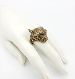 LAS Collective Cheetah ring - yellow bronze polished by LAS Collective