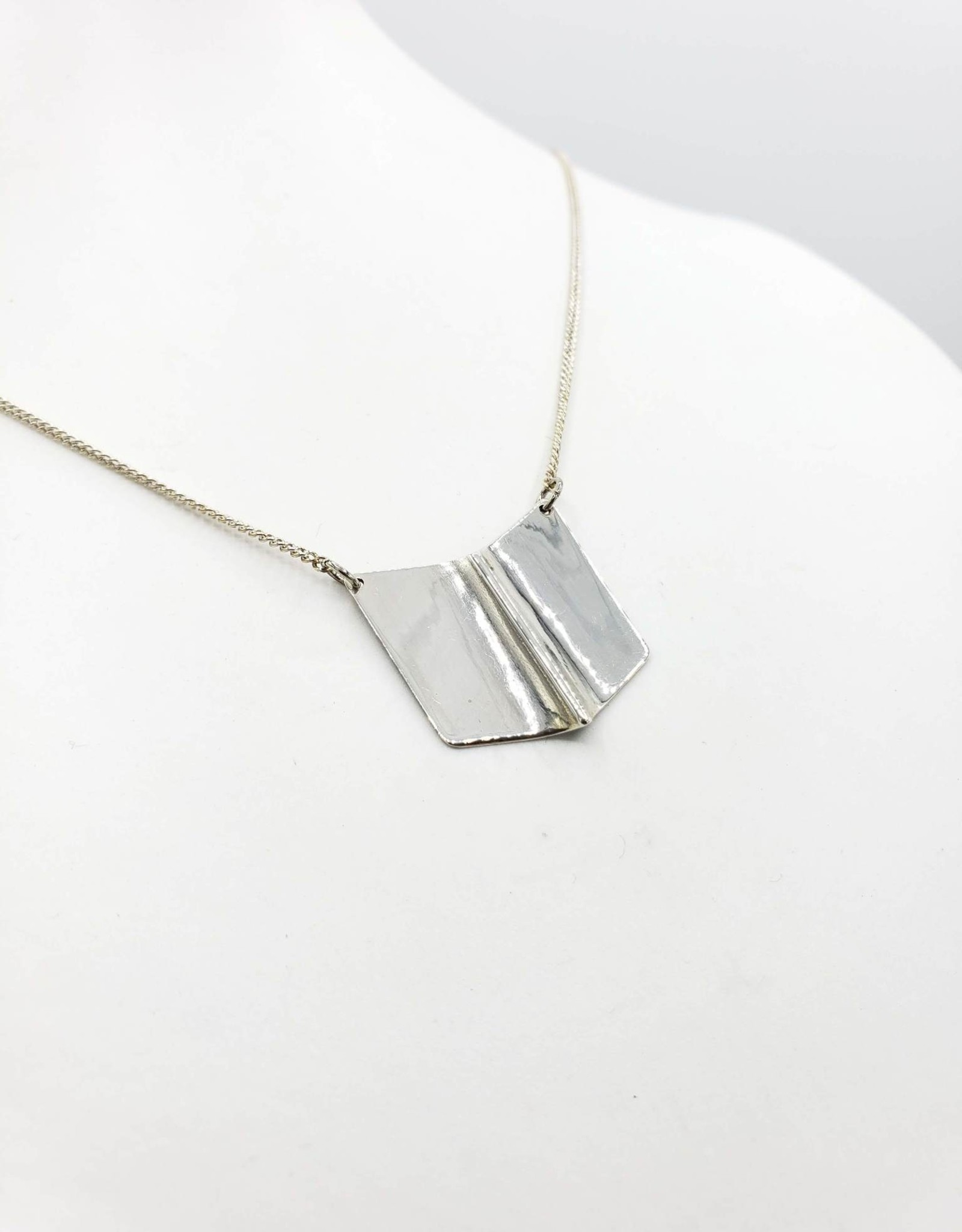 Chevron sterling necklace