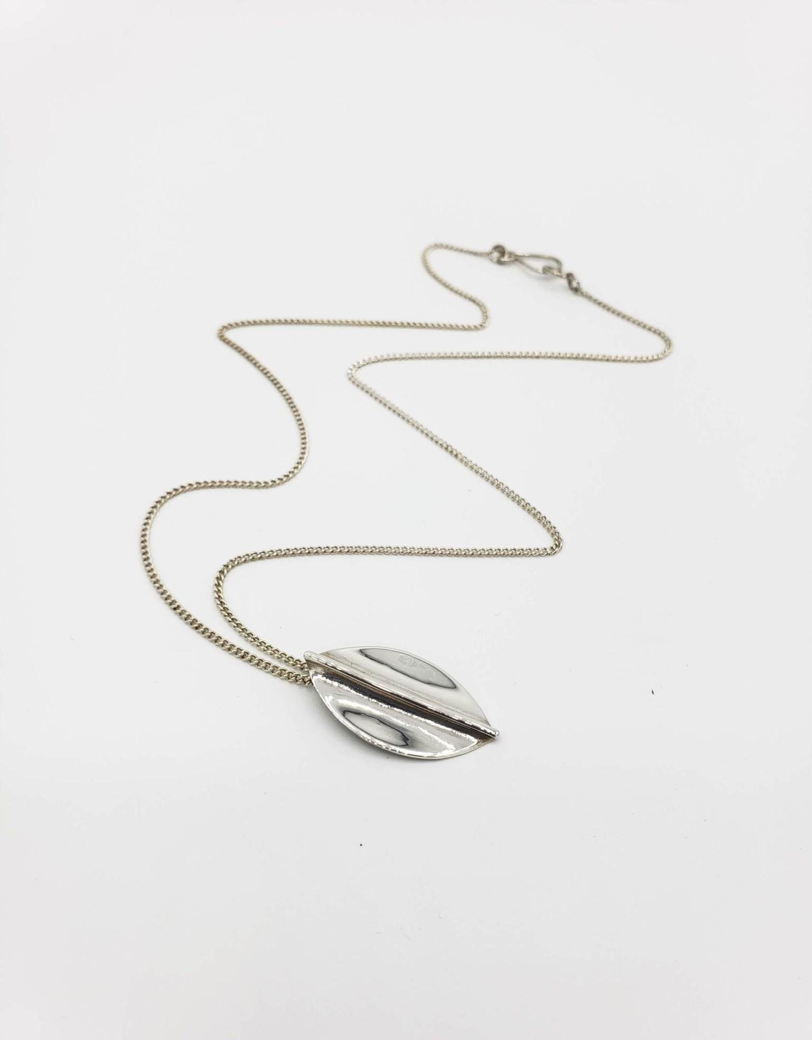Camden Sterling Silver leaf shape fold-formed necklace