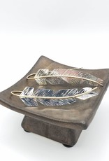 Peter James Jewelry Sterling & Gold fill accent feather earrings (Large)