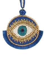 All Seeing Eye Bead & Fringe Blue Eye Ornament