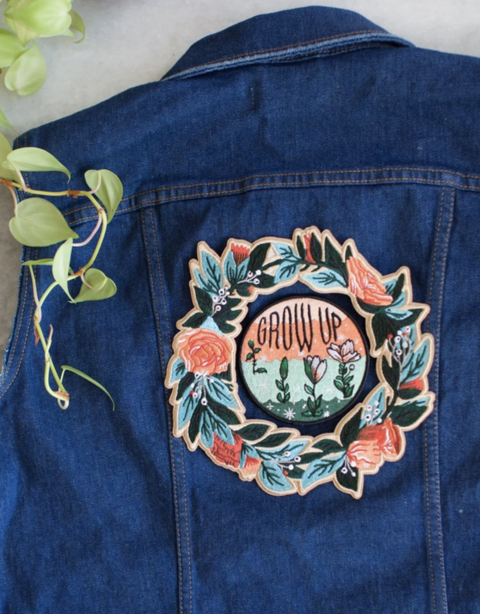 Stay Home Club Wreath Iron-On Back Patch by Stay Home Club