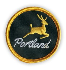 "Badgebomb ""Portland Stag"" Iron On Patch"