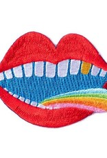 """""""Rainbow Tongue"""" Iron On Patch - by Lisa Congdon"""