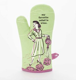 Blue Q Oven Mitt: My Favorite Salad is Wine