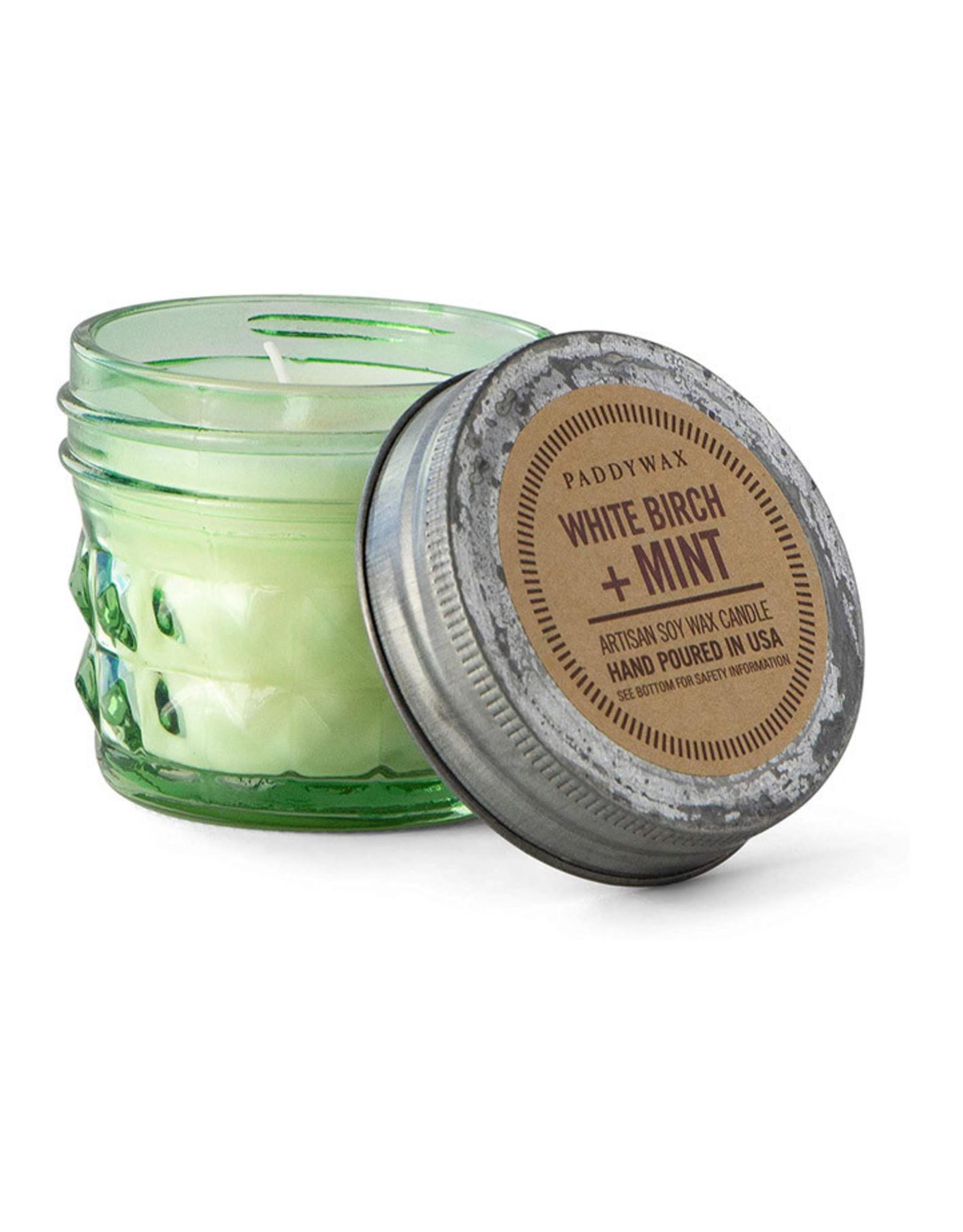 Paddywax Relish Jar 3 oz candle - White Birch & Mint