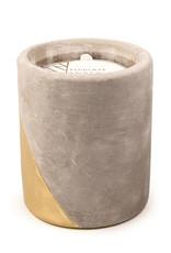 Paddywax Urban 12oz Concrete pot (large), Amber & Smoke