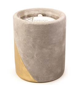 Paddywax Urban 12oz Concrete pot (large), Amber & Smoke