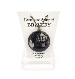 Christine Blasey Ford Patroness Saint Pendant Necklace