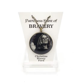 Redux Christine Blasey Ford Patroness Saint Pendant Necklace