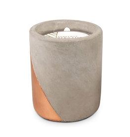 Paddywax Urban 12oz Concrete pot (large), Bergamot & Mahogany