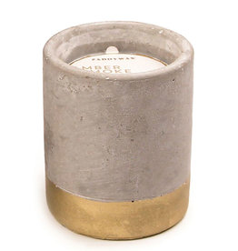 Paddywax Urban 3.5oz Concrete Candle (Small) - Amber & Smoke