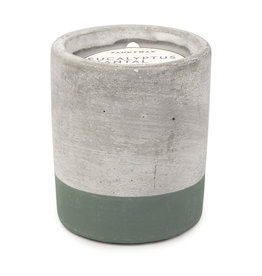Paddywax Urban 3.5oz Concrete Candle (Small) - Eucalyptus & Santal