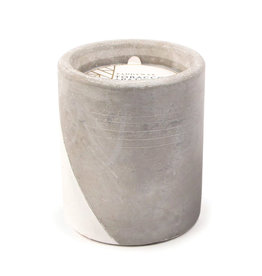 Paddywax Urban 12oz Concrete pot (large), Tobacco & Patchouli