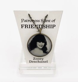 Zooey Deschanel Patroness Saint Pendant Necklace