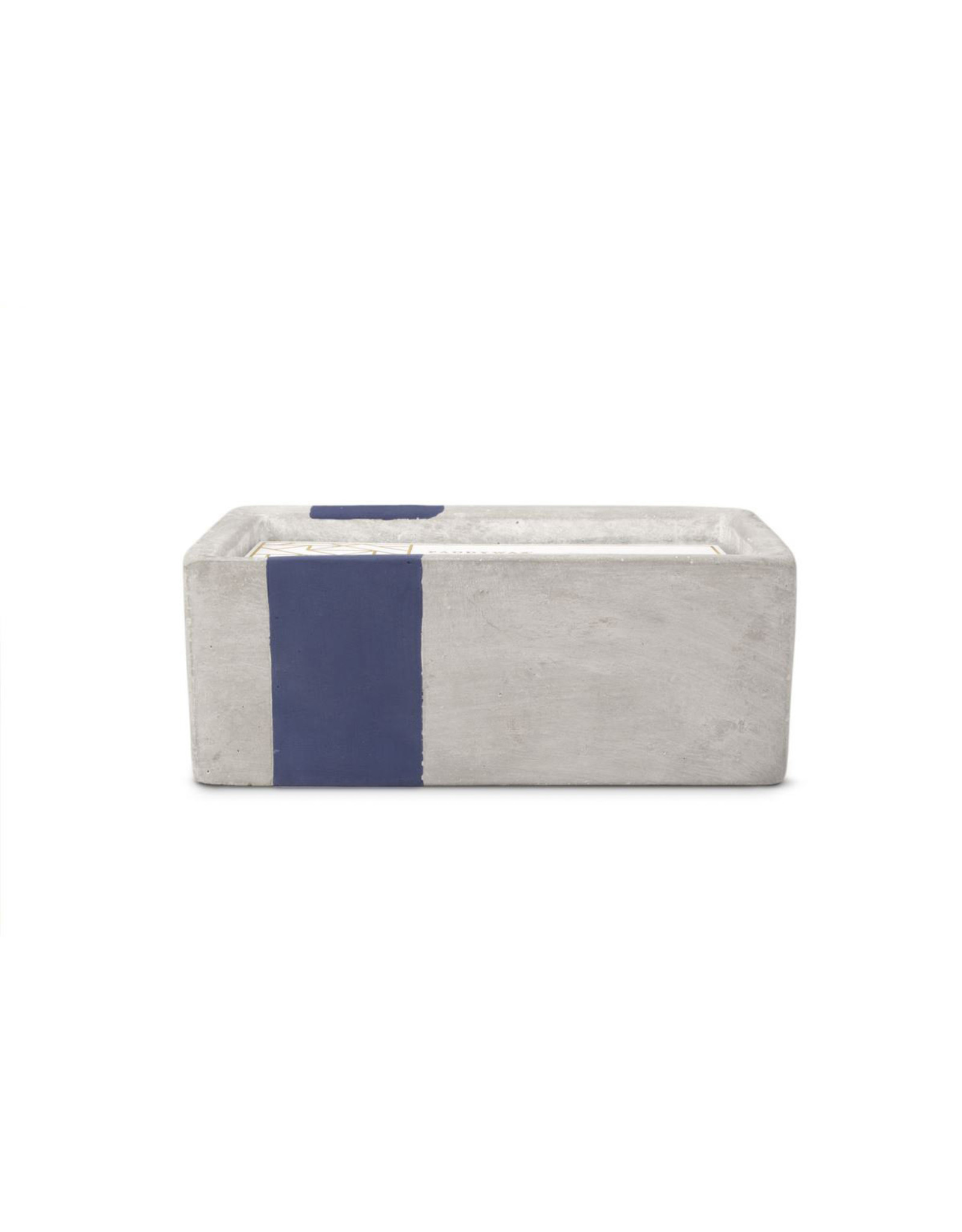 Paddywax Urban 8oz Concrete Rectangle Candle (Small) - Driftwood & Indigo