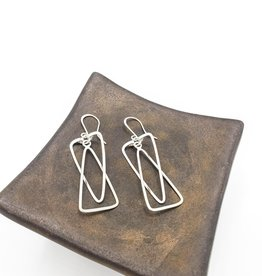Double Triangle Earring on wire