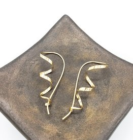Peter James Jewelry Minimalist Threader Corkscrew Earrings - Gold Fill