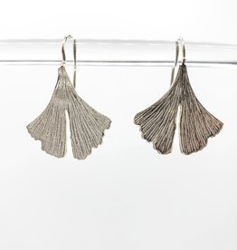 Ginko Leaf Sterling Silver Ginko Leaf Earrings