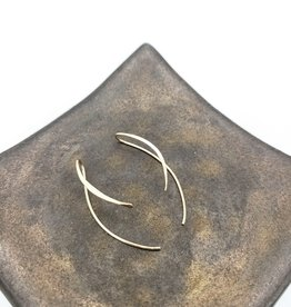 Peter James Jewelry Minimalist Parenthesis Threader Earrings, Small Gold Fill - Peter James Jewelry